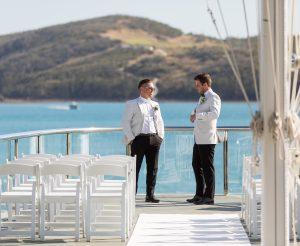 Yacht Club Flag deck ceremony - 1809080272