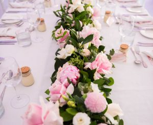 Floral center piece - long table