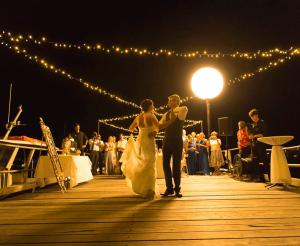 Fairy-Light-on-Dock-Cook-Wedding
