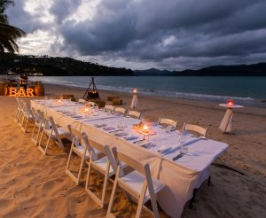Catseye Beach - dinner by night